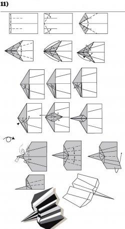 Как сделать бумажный самолетик. 12 лучших схем оригами, в том числе бумажный самолетик, который долго летает.