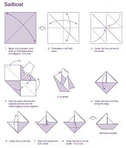 Оригами схемы пароход
