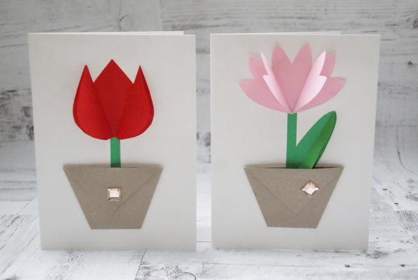 8 марта открытка из оригами