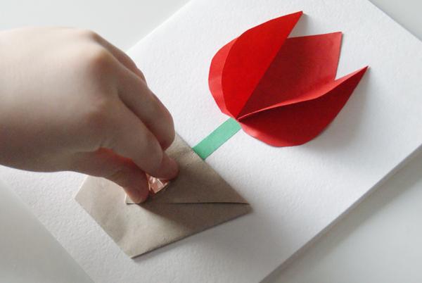Оригами для 8 марта открытки