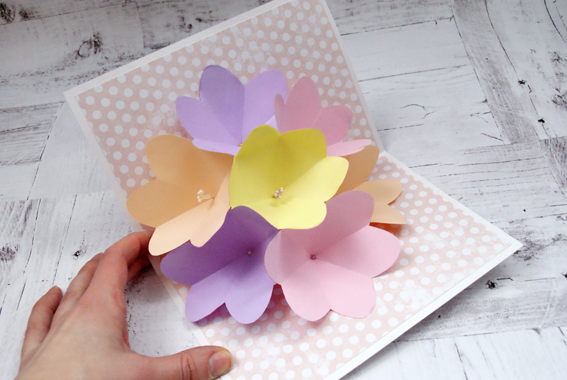 Цветы из бумаги руками детей для открытки 128
