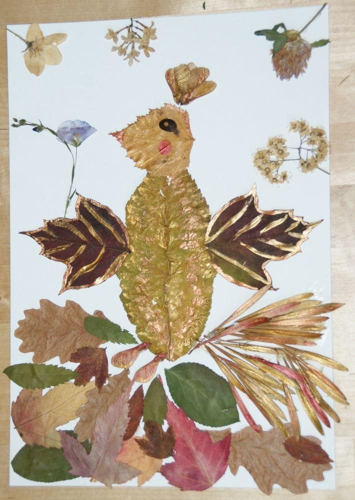 Поделки из листьев и из гербария 137