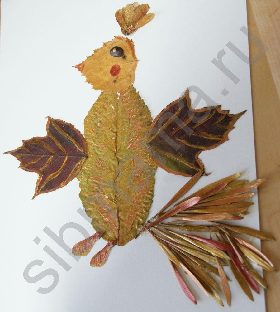 Жар-птица своими руками из природных материалов 539