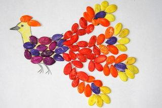 Поделки из семян арбузных