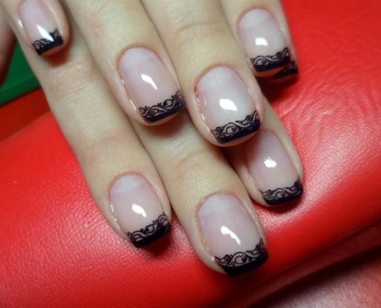 Гелевое покрытие коротких ногтей дизайн