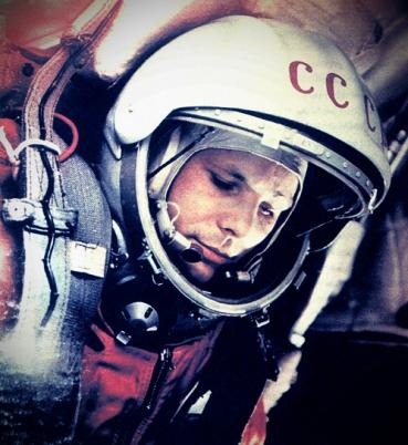 Гагарин в скафандре
