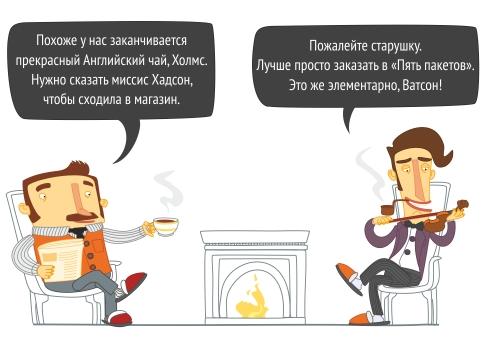 доставка еды на дом, доставка на дом Новосибирск, доставка продуктов на дом Новосибирск круглосуточно, памперсы с доставкой на дом Новосибирск, 5 пакетов интернет-магазин