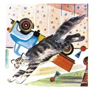 Нет, напрасно мы решили прокатить кота в машине. Стихи для детей А. Барто